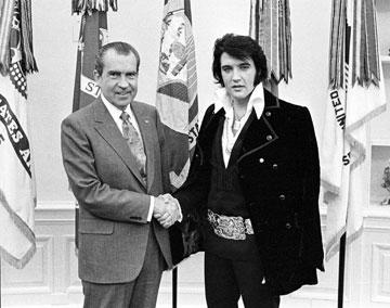 פגישה סודית. עם הנשיא ניקסון (צילום: gettyimages)