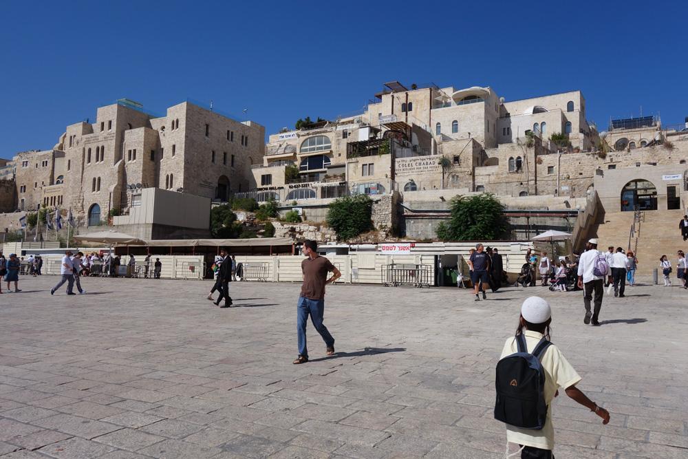 אתר הבנייה המתוכנן, אתמול. הבניין אמור לחסום את המבט המרהיב מהכותל לרובע היהודי (צילום: מיכאל יעקובסון)