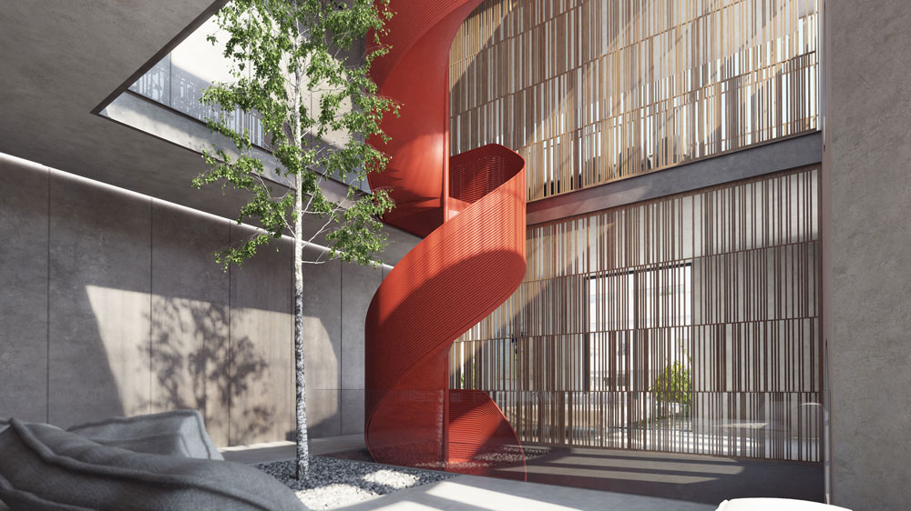 וילה עירונית שמתכנן משרדו של קדם בסמוך. בסך הכל עובד המשרד על 7 וילות בשכונה, בנוסף למלון ולפרויקט מגורים שאותו הוא מתכנן יחד עם גל מרום, על שטח של 4 דונם (הדמיה: סטודיו בונסאי – אורי קיטה )