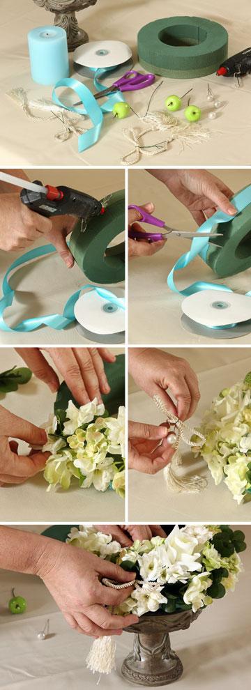 מרשימה ופשוטה להכנה. טבעת פרחים (צילום: אורן שלו)
