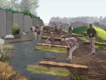 כך ייראה הגן הבוטני החדש (הדמיה: משרד דוד אלחנתי אדריכלות נוף)