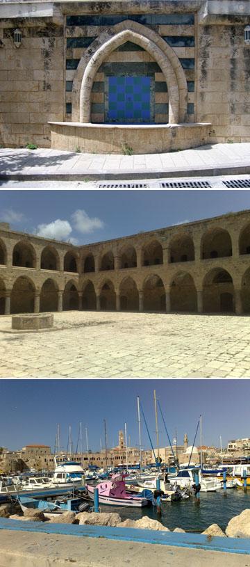 נמל עכו. בעיר העתיקה יש 4 מבני חאן (צילום: דני ארמה)