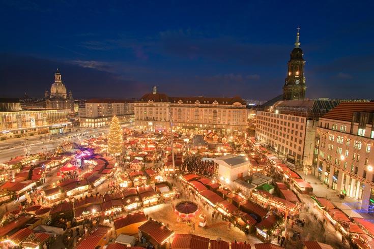 יריד חג מולד בגרמניה. חגיגה של אורות ושופינג בערים רבות בסוף דצמבר, תחילת ינואר (צילום: LH DDDittrich, cc)