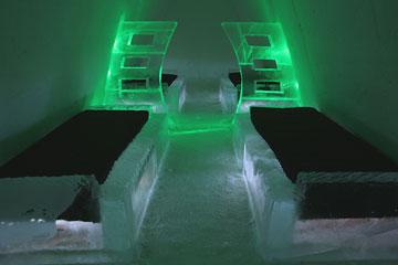 חדר טיפוסי במלון השלג בכפר (באדיבות SnowVillage Finland)