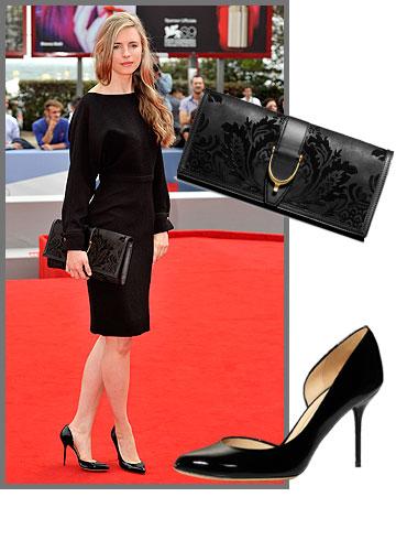 השחקנית והקולנוענית היפהפייה בריט מרלינג אַבזרה את הופעתה בנעליים (2,300 שקל) ובתיק קלאץ' (10,000 שקל) אלגנטי מבית גוצ'י (צילום: gettyimages)