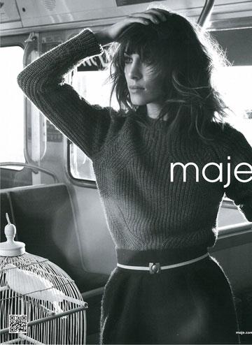 אלכסה צ'אנג בקמפיין של המותג Maje