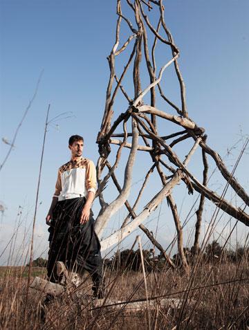 חצאית לגברים של דן איילון בשנקר (צילום: יגאל עמר ל The Practice)