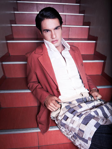 חצאית לגברים של צליל רוקנשטיין בשנקר (צילום: תום דרור ל The Practice)