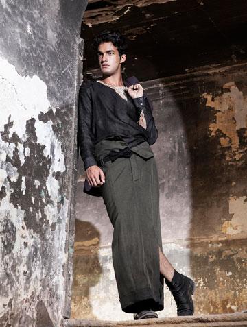 חצאית לגברים של הסטודנטית סמדר רהט בשנקר (צילום: יניב דרוקר ל The Practice)