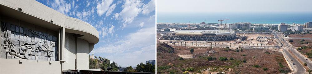 זה מול זה: השקעה בפיתוח פאתי העיר (אצטדיון עופר מימין), מול השקעה בשכונת רוממה הוותיקה (היכל הספורט משמאל) (צילום: אביעד בר נס)