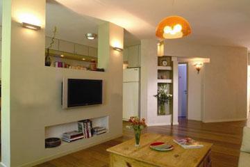 תאורה שמאירה את התקרה. עיצוב: קרן אטלס-דרור (צילום: קרן אטלס-דרור)