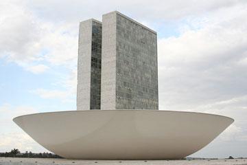 הקונגרס הלאומי של ברזיל. טביעת יד ייחודית שניתן לזהות מיד (צילום: celopes, cc)