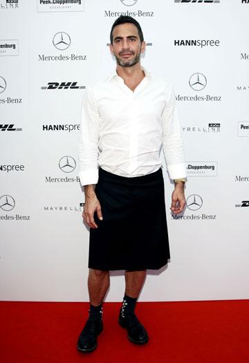 מעצב האופנה מארק ג'ייקובס. חובב חצאיות (צילום: gettyimages)