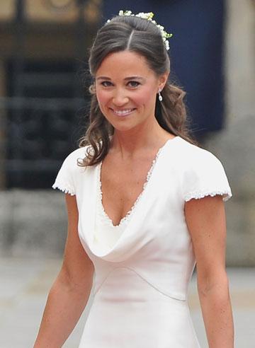 גנבה את ההצגה לאחותה. פיפה מידלטון בחתונה המלכותית, 2011 (צילום: gettyimages)