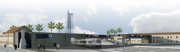 אנה לסיצין מציעה לפתח באתר מוזיאון לרכבת ולתעשייה (באדיבות אנה לסיצין , הפקולטה לארכיטקטורה ובינוי ערים בטכניון)
