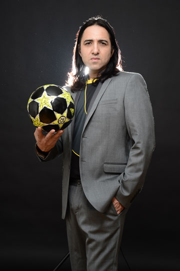 """""""אני שונא כדורגל ברמה מטורפת"""". זריף (צילום: רונן אקרמן)"""