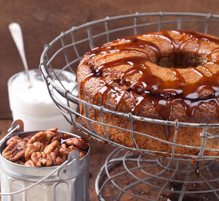 עוגת מייפל פקאן (צילום: כפיר חרבי)
