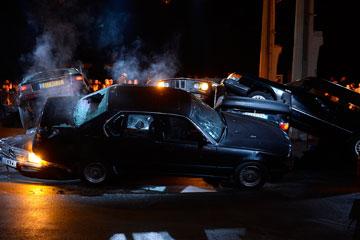 באווירת תאונת דרכים. התצוגה של ז'יבנשי (צילום: gettyimages)