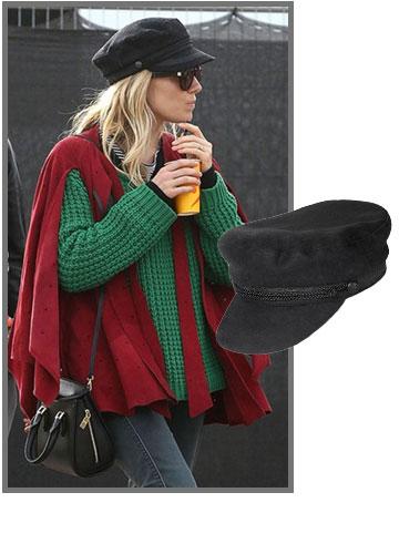 סיינה מילר בקסקט לוהט של H&M מהקולקציה שעוצבה לשבוע האופנה בפריז (99.90 שקל) (צילום: splashnews, הנס מוריץ)