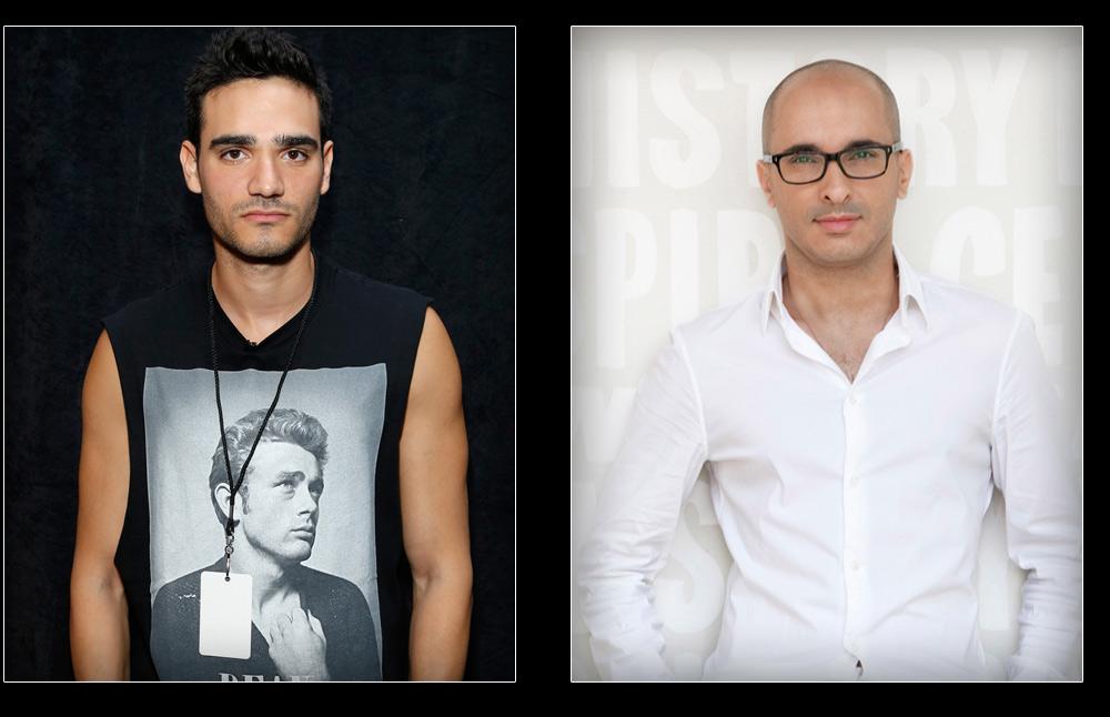 ברשימת הזוכים: יוסי קצב בפרס עיצוב בגדי גברים (מימין) ואלון ליבנה בפרס הפריצה הבינלאומית (צילום: gettyimages)