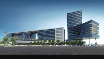 מתחם התעסוקה OKA (תכנון: OKA  אדריכלים, הדמיה: 3Dvision)