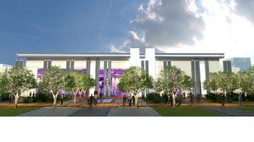 כך ייראה מרכז הקונגרסים החדש (הדמיה: באדיבות דוברות עיריית כפר סבא )