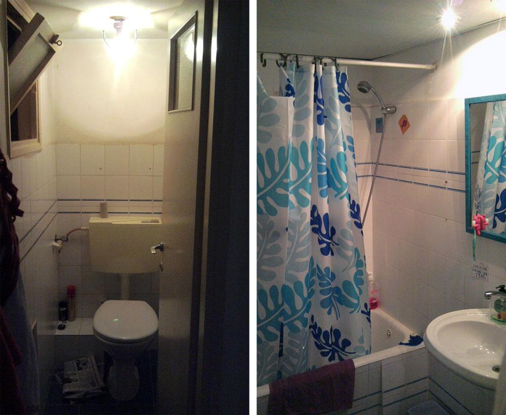 חדרי הרחצה והשירותים הישנים  (צילום: BLV  עיצוב פנים)