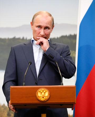 """ולדימיר פוטין. """"אחרי שהבעתי את דעתי עליו, לא כדאי לי להגיע לרוסיה, כי אני אחזור לכאן בחלקים"""" (צילום: gettyimages)"""