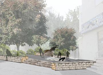 ''איים של סדר''. הצעה לשיפוץ עדין בהדר, שזקוקה להרבה יותר (הדמיה: אב אדריכלות נוף ו AP Studio  Architectural & Art 3D Visualization)