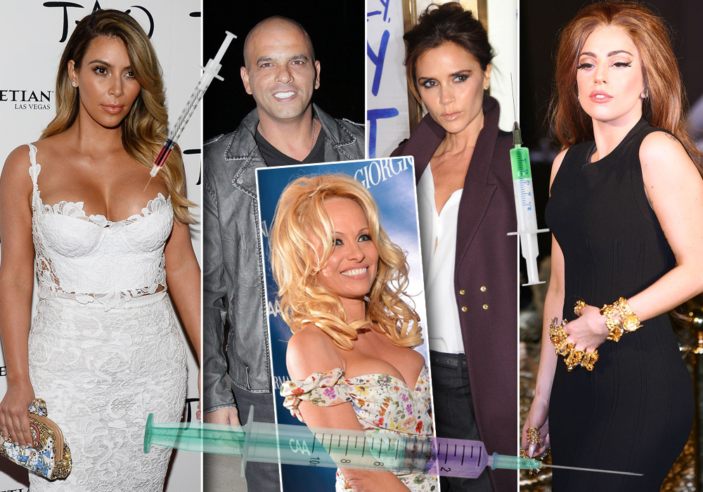משקיעים מאות אלפי דולרים בטיפוח. מימין לשמאל: ליידי גאגא, ויקטוריה בקהאם, אייל גולן, קים קרדשיאן ופמלה אנדרסון (צילום: gettyimages)
