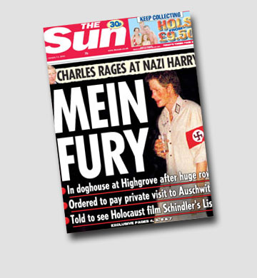 הציבור הזדעזע. הנסיך הארי מתחפש לנאצי