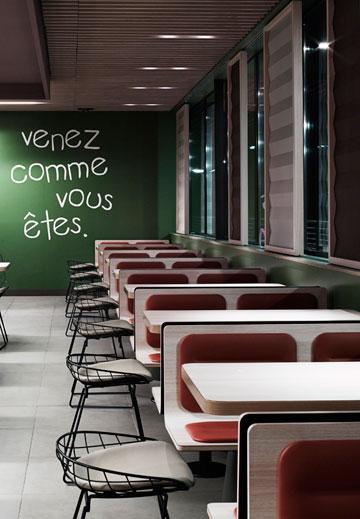 קולקציית רהיטים שעיצב נורגה לסניפי מקדונל'ס בעולם (פיטרו ריהוט משרדי)