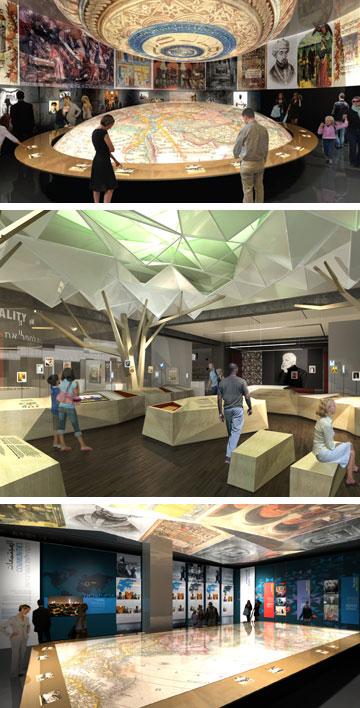 """""""התכנון הוא להפוך את בית התפוצות למוזיאון היהודי הגדול בעולם"""". הדמיה של בית התפוצות המחודש (באדיבות בית התפוצות)"""