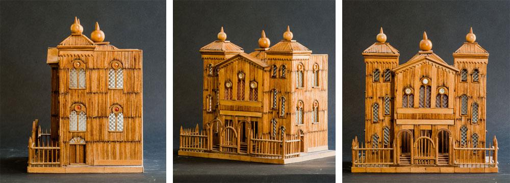 נכדתו של ויסמן, אירית שניר כהן, והצלם גדעון לוין החליטו לצלם כל אחד מהמודלים משלוש זוויות שונות: מלפנים, מהצד ומזווית שמראה פרספקטיבה של המבנה (צילום: גדעון לוין)