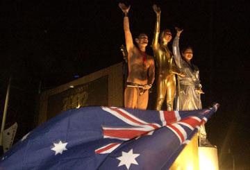 """מסיבה גאה באוסטרליה. """"חשבנו לחיות שם אבל בסוף חזרנו לארץ"""" (צילום: gettyimages)"""