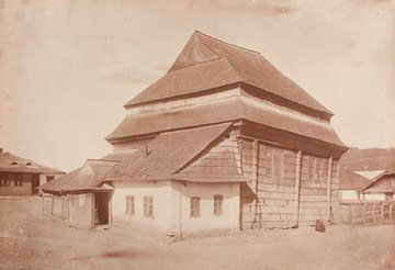 אחד מבתי הכנסת הגליציאניים שמוצגים בימים אלה במוזיאון תל אביב  (באדיבות אוסף מוזיאון תל אביב לאמנות)