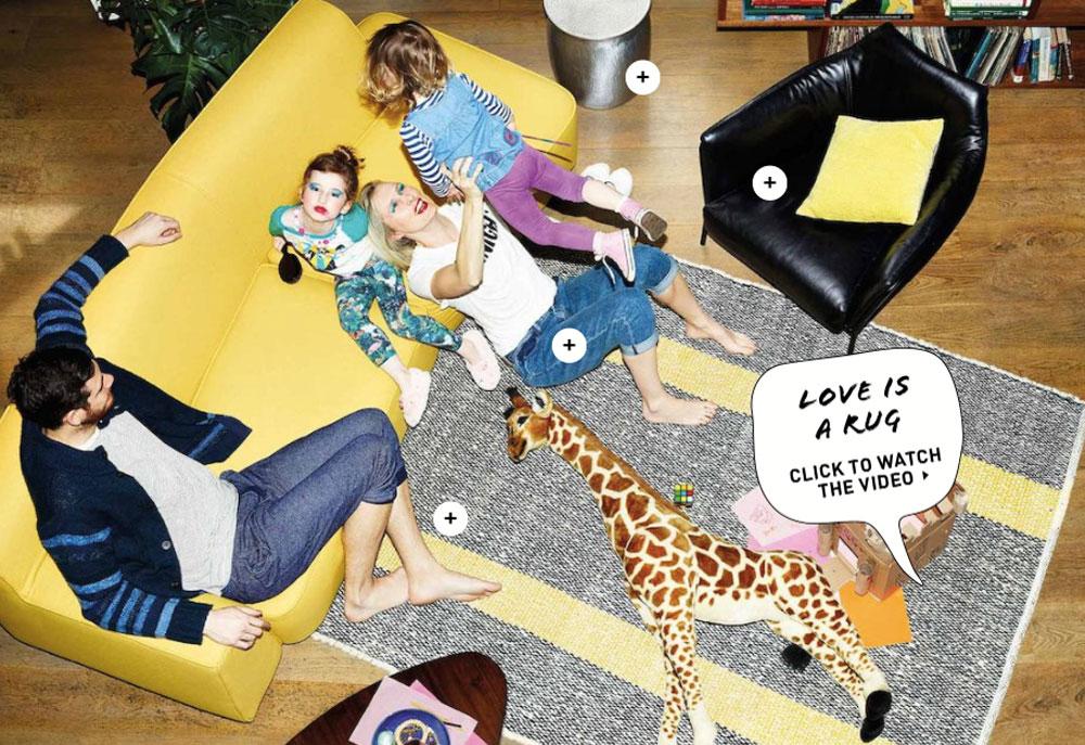 מתוך '' This is our Habitat'' - זה הבית (או בית הגידול) שלנו - הסלוגן שנבחר לקמפיין 50 שנה להקמת רשת הרהיטים הבריטית. הצילומים מנסים לחקות ''חיים אמיתיים'' (צילום: Frederike Helwig)