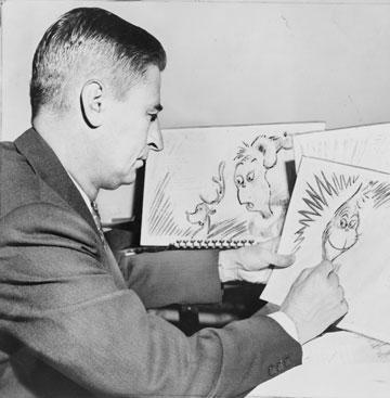 התחיל את הקרירה עם ציורי עירום. תאודור סוס גייזל  (צילום: Al Ravenna, New York World-Telegram and the Sun staff photographer)