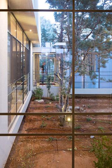 מבט לחצר הפנימית. הגינון החדש מעשיר את הצמחייה הותיקה (צילום: שי אפשטיין)