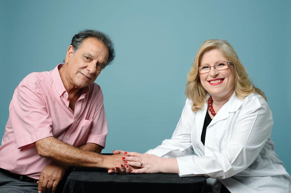 """ד""""ר אילנה שלזינגר וסמי זנגי (צילום: יונתן בלום)"""