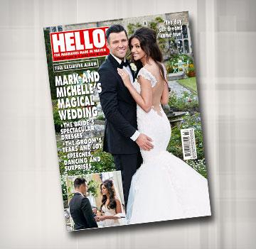 שמלת כלה בעיצובה של גליה להב על שער מגזין Hello