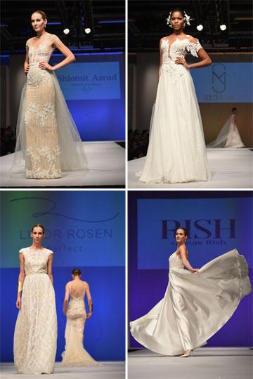 בתצוגת האופנה שיזם משרד הכלכלה: שמלות כלה של שלומית אזרד, מרב סולו, יואב ריש ולימור רוזן (צילום: שחר עזרן )