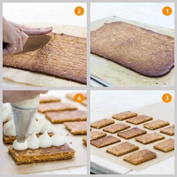 שלבי הכנת עוגת המילפיי (צילום: אולגה טוכשר)