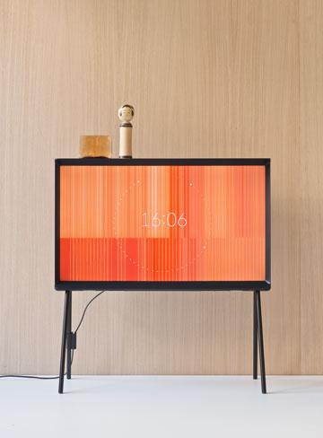 ''סריף'', הטלוויזיה החדשה של סמסונג. ''למצוא כיוון חדש למשהו כל כך גנרי''  (צילום: Studio Bouroullec)