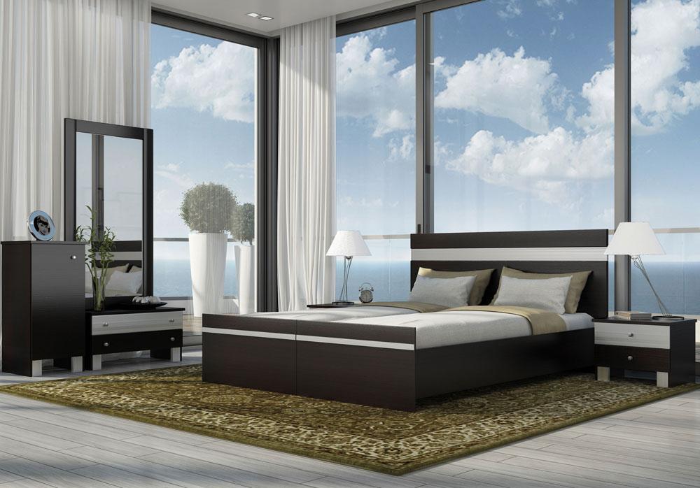 חדר שינה לדתיים עם הפרדה במיטה (דגם אודם). הפרטים למטה