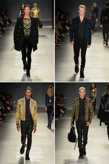 נוצצים. בגדי הגברים של בלמן ל-H&M על המסלול (צילום: הנס מוריץ)