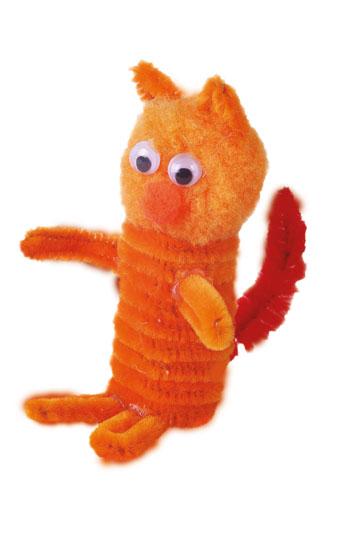 פשוט וקל. בובת אצבע בצורת חתול (צילום: אירית זילברמן)