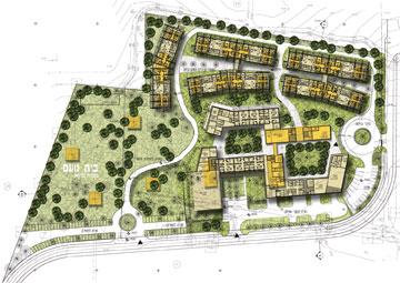 בית נועם העתידי. הרבה שטחים ירוקים (באדיבות באדיבות פלסנר אדריכלים)