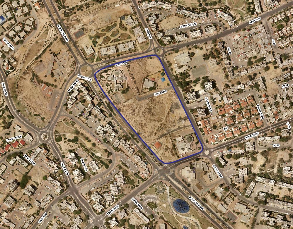 כאן יוקם מרכז-יום טיפולי: שכונה י''א בבאר שבע. התחרות פתוחה לכולם, גם למי שאינו אדריכל (צילום: עיריית באר שבע, מחלקת הנדסה )