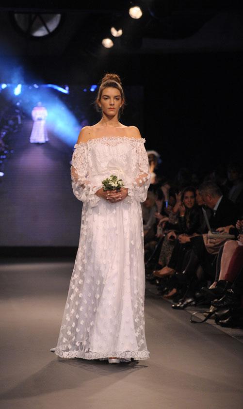תצוגת שמלות הכלה של יאיר ג'רמון בשבוע האופנה TLV (צילום: ערן סלם)